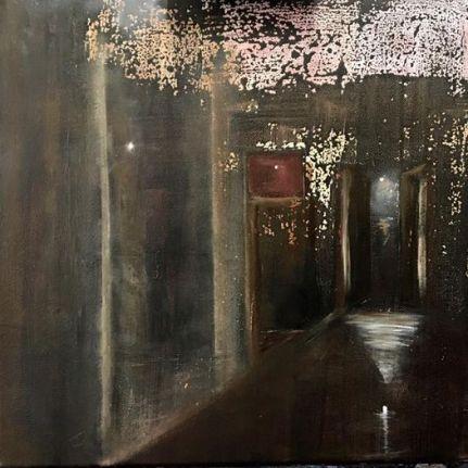 Porta de Deus e os três Arcanjos, oil on canvas 40x40cm, 2015, goulart art