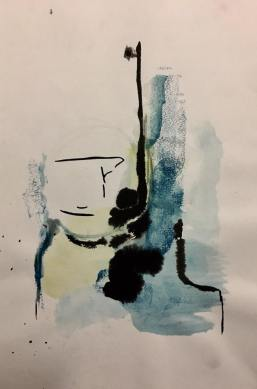Alma, watercolor, 30x21cm, 2016, goulart art $ colecção particular