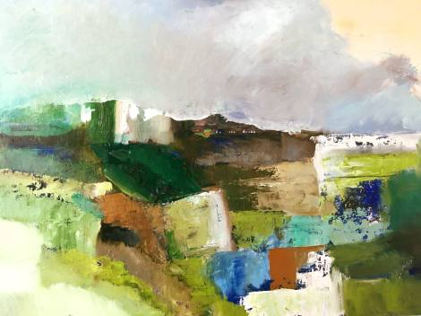 Azores (V) Memória Infinita, Oil on wood 58x82cm, 2018, goulart art