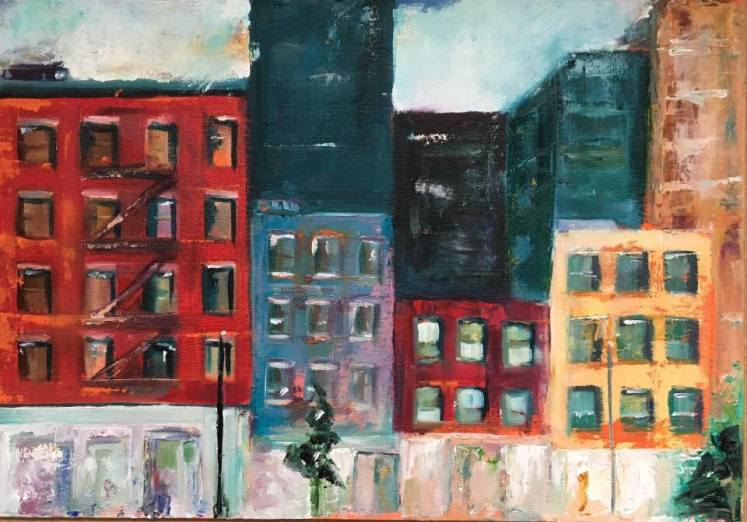 new york (I) Chelsea, oil on canvas, 35x50cm, 2017, goulart art colecção particular