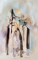 new york (VI) Mitos, watercolor, 21x30cm, 2014, goulart art
